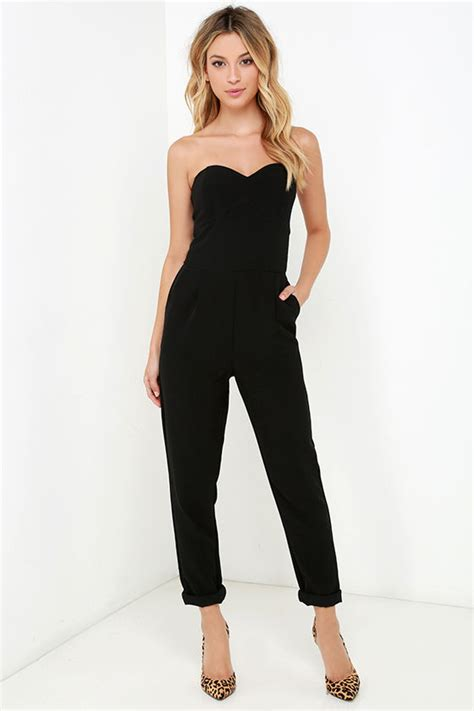 strapless jumpsuit stylish black jumpsuit strapless jumpsuit boned