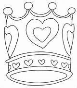 Crown Coloring Princess Pages Template Queen Tiara Purim Queens Crowns King Birthday Templates Royal Drawing Printable Colouring Getcolorings Getdrawings Idea sketch template