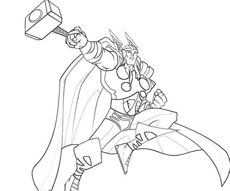 Kleurplaat Thor by Thor Coloring Pages Comic Book Coloring Pages