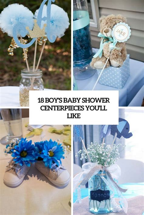 Decorating Ideas For Baby Shower Boy by 18 Boys Baby Shower Centerpieces You Ll Like Shelterness