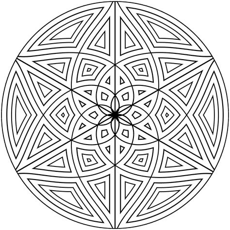 Geometric Design Coloring Pages Free Printable Geometric Coloring Pages For Adults