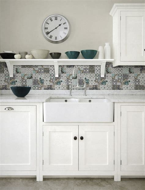 country style kitchen tiles patchwork backsplash for country style kitchen ideas 6227