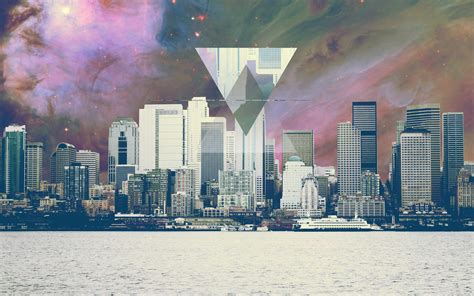 abstract laptop backgrounds  hipster style city
