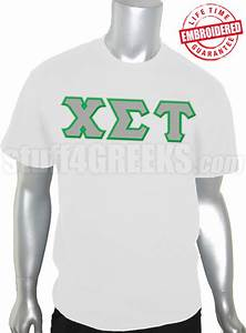 chi sigma tau greek letter t shirt white embroidered With sigma chi letter shirt