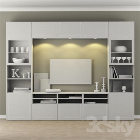 Ikea Besta Kleiderschrank by 3d Models Wardrobe Display Cabinets Wardrobe Ikea Tv