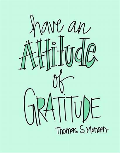 Gratitude Attitude Quotes Grateful Clipart Things Happy