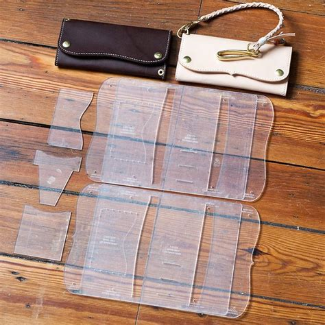 leather templates leather roper style wallet acrylic template set