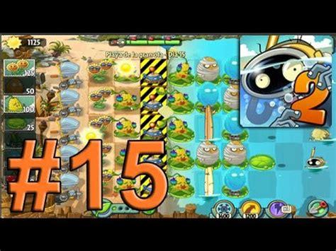 plants vs zombies 2 playa de la gran ola dia 15