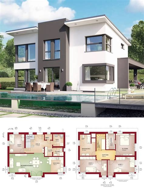 Einfamilienhaus Modern Mit Pultdach & Querhaus Haus