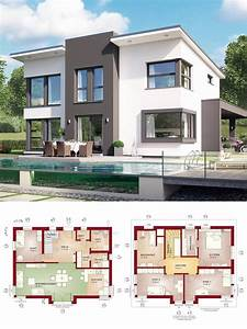 Modernes Haus Grundriss : einfamilienhaus modern mit pultdach querhaus haus ~ Lizthompson.info Haus und Dekorationen