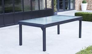 Table De Jardin Extensible Pas Cher : table de jardin rectangulaire avec rallonge grise pour 8 ~ Dailycaller-alerts.com Idées de Décoration