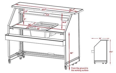 Bar Design Dimensions by Rustic Standard Portable Bar Mobile Bars