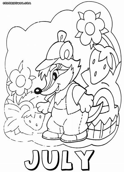 Coloring Month Pages Months July Coloringway