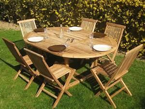 Table Teck Jardin : salon de jardin barbade en teck 6 8 personnes table 130 190 x 130 x 74 cm 6 chaises 56079 ~ Teatrodelosmanantiales.com Idées de Décoration