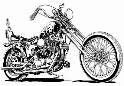 Chopper Motorcycle Clipart Choppers Harley Sportster Clip