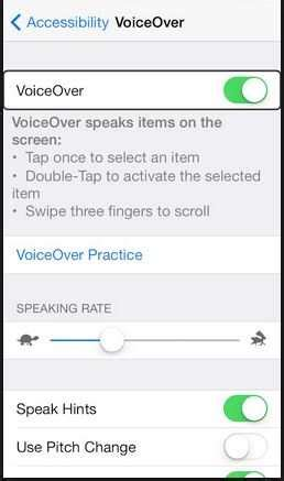 how to turn voice iphone 5 how to use voiceover in ios 8 turn on voiceover iphone