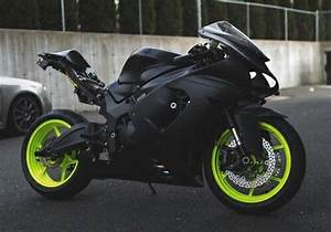 Green Black Sport Bike to Pin on Pinterest