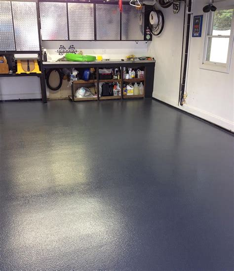 finished a non slip chemically resistant concrete garage