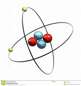 3d Helium Atom Stock Photography - Image: 13768382