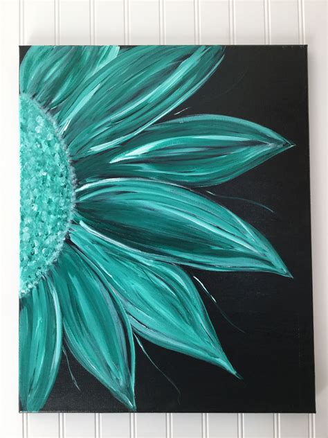Painting on canvas has been a tradition in the arts since before the renaissance. Acrylic Flower painting on black background   Simple acrylic paintings, Black canvas paintings ...