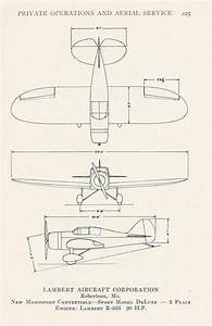 Vintage Airplane Print  Aviation  Transportation  Diagram