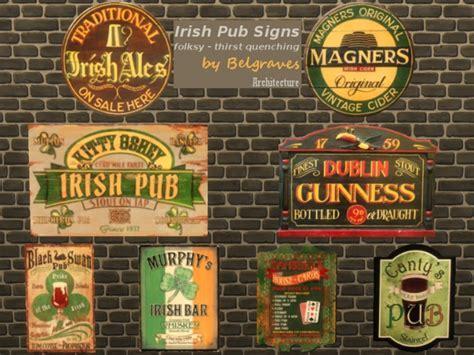 Irish Pub Signs at Leander Belgraves » Sims 4 Updates