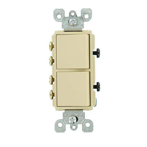 leviton 15 decora commercial grade combination two 3 way rocker switches ivory 5643 i the