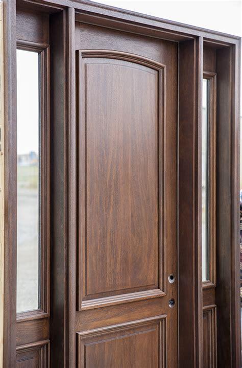 cl  mahogany exterior door walnut finish