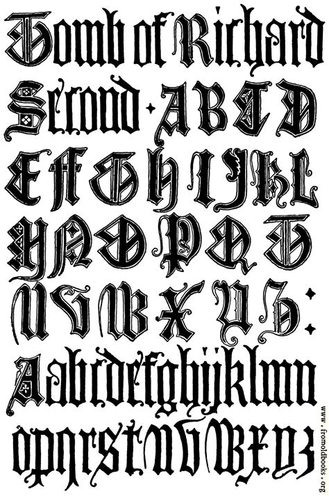 english gothic letters  century fcb