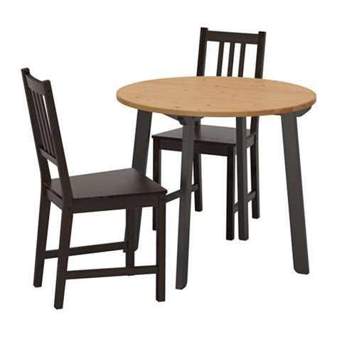 ikea table et chaise stefan gamlared table and 2 chairs light antique stain