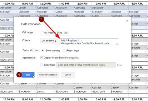 Employee Schedule Template Employee Schedule Template