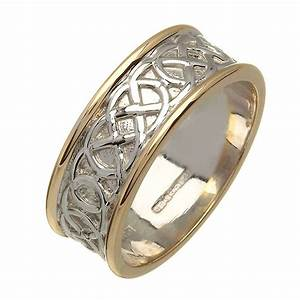 irish two tone wedding ring celtic knots gold ring With wedding rings ireland