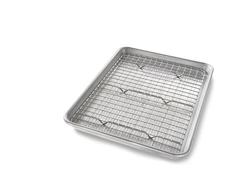 cooling quarter baking pan rack sheet nonstick bakeable metal quality