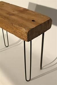 Table Pied Epingle : petite table basse en bois de r cup ration avec pieds en ~ Edinachiropracticcenter.com Idées de Décoration