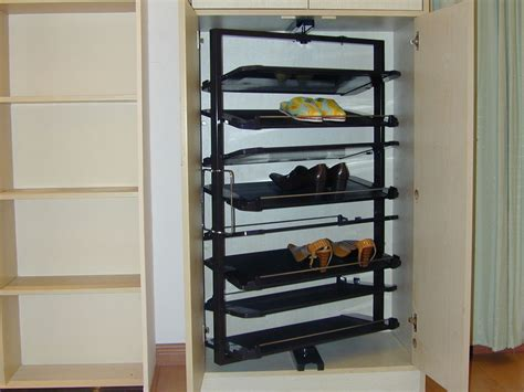 simple hallway with metal shoe racks closets pratt