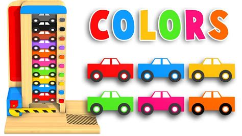 learn colors with car parking cars toys preschool 968 | maxresdefault