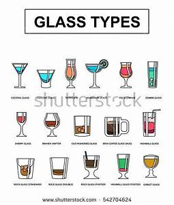 Alcohol Drinks Set Different Alcohol Bottle Stock Vector ...
