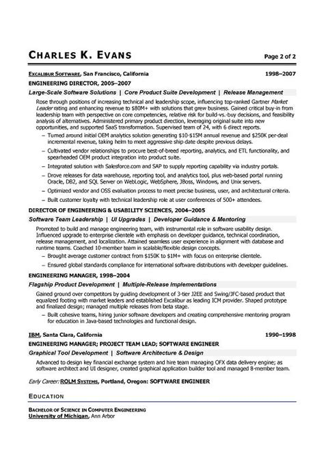 write software engineer resume