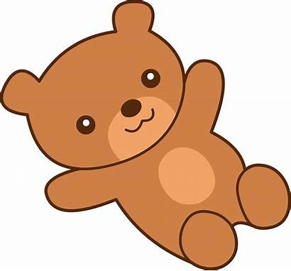 Bear Teddy Brown Clip Clipart Graphics Colored