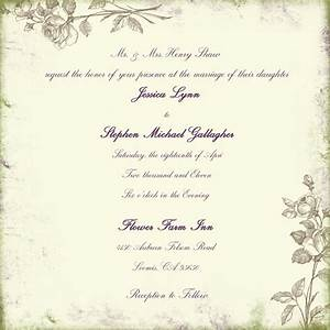 wording for wedding invitations marriage invitation With wedding invitations message format