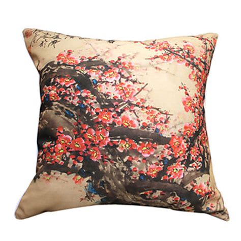 """18"""" Square Plum Print Polyester Decorative Pillow Cover. Live In Room Attendant Jobs. Living Room Settings Pictures. Coffee Table In Living Room. Cheap Ideas To Decorate Living Room. Wall Art Sets For Living Room. Red And Brown Living Room Ideas. Designer Swivel Chairs For Living Room. Cream Color Paint Living Room"""