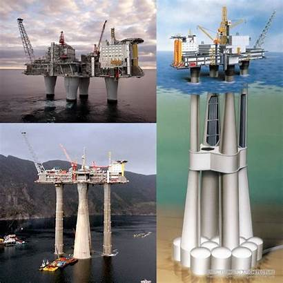 Troll Platform Gas Earth Norway Structure Heaviest