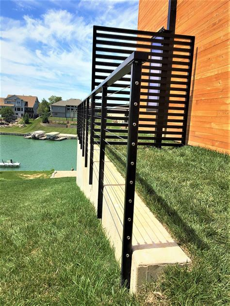 steel deck handrails cable deck railing wire railing mailahn innovation