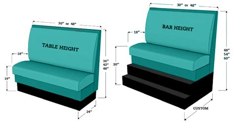 Restaurant Booth Dimensions