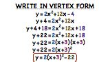 how do you convert a quadratic from standard form to vertex form by completing the square