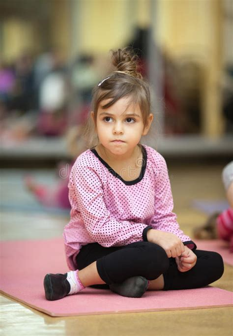 Little girl, fitness stock image. Image of classroom ...