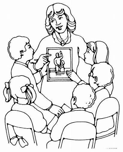 Teaching Teachers Students Teacher Drawing Children Baptism