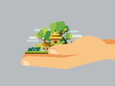 tree house animated awesome hand art animation