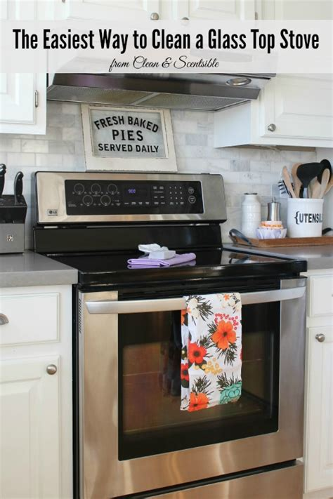 how to clean glass cooktop how to clean a glass top stove clean and scentsible