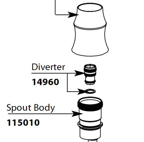 Moen Sink Sprayer Diverter Valve by Moen Faucet Parts Diagram